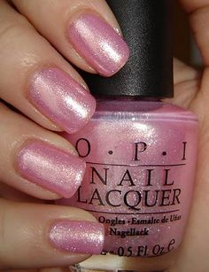 """@Helena Lacanglacang... OPI """"Princesses Rule"""" Depending on the lighting, this is either light or medium pink..."""