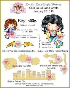 La-La Land Crafts Inspiration and Tutorial Blog: Club La-La Land Crafts JANUARY 2016 Kit Showcase - Week 1
