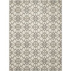 Concord Global Manhattan Gray Rectangular Indoor Woven Throw Rug (Common: 3 x 4; Actual: 2.58-ft W x 4.08-ft L x 2.58-ft Dia)