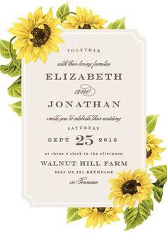 Sunflower  Wedding Invitations #rusticwedding