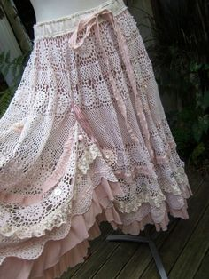 Crochet skirt. Not sure this will ever make my project basket, but it sure is pretty