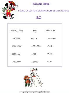 suoni_simili_s_z Schede didattiche