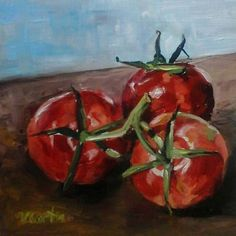 Tomatoes Oil Painting by Vicky Curtin by MyCoveArt on Etsy Stuffed Peppers, Vegetables, Tomatoes, Paintings, Oil, Etsy, Paint, Stuffed Pepper, Vegetable Recipes