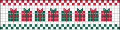 Gráfico de Barrinhas para o Natal, em Ponto Cruz ~ Arte De Fazer | Decoração e Artesanato