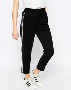 Image 4 of ASOS Peg Trousers with Contrast Piping