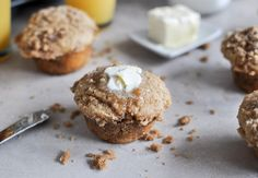What's for breakfast? Whole Wheat Coffee Cake Muffins.