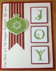 Joy Christmas Card - very easy to make!