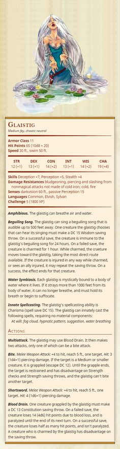 Str Dex Con Int Wis Cha 19 Skills Deception Perception Stealth Damage Resistances bludgeoning, piercing and. Dungeons And Dragons Classes, Dungeons And Dragons Homebrew, Cool Monsters, Dnd Monsters, Dnd Bard, Dnd Stats, Dnd 5e Homebrew, Dungeon Maps, Creatures