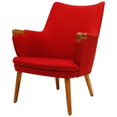 Hans Wegner AP 20 Lounge Chair | From a unique collection of antique and modern lounge chairs at http://www.1stdibs.com/furniture/seating/lounge-chairs/