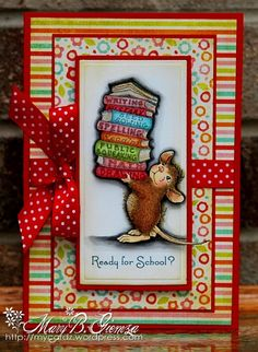 card - love everything about this card, the patterns, colours and the house mouse design!