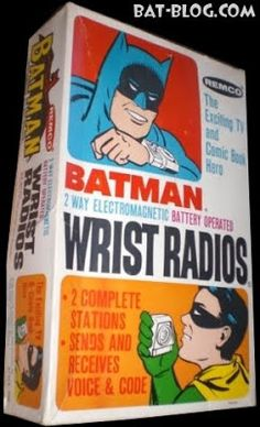 BAT - BLOG : BATMAN TOYS and COLLECTIBLES: Vintage BATMAN Toys - REMCO 2 Way Electromagnetic Battery Operated WRIST RADIOS