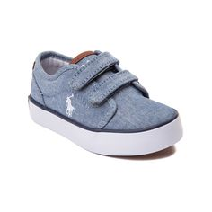 Keep him on his toes with the exclusive new Jeethan Casual Shoe from Polo Ralph Lauren! The Jeethan Shoe sports a handsome chambray upper with dual hook-and-loop straps for easy on and off, lightly padded collar provides comfort and support, cushioned footbed, and flexible rubber tread outsole. Only available at Journeys Kidz!
