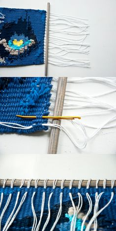 How to hang a weave | The Weaving Loom #tutorial #weave