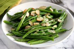 Easy Sauteed Green Beans.  Thanksgiving side.   (Prepared this for Thanksgiving.  Got good feedback from Mom!)