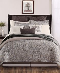 Another great find on #zulily! Brown Palazo Comforter Set by Chic Home Design #zulilyfinds