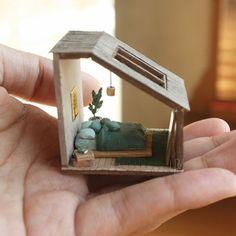 Miniature Rooms, Miniature Crafts, Doll Furniture, Dollhouse Furniture, Diy Dollhouse, Dollhouse Miniatures, Mini Doll House, Mini Craft, Wood Burning Patterns