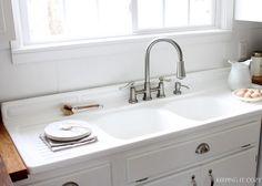 Antique Cast Iron Farmhouse Vintage Kitchen Sink Double