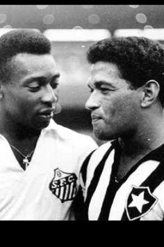 Manuel Francisco dos Santos y Edson Arantes do Nascimento, Garrincha y Pele. Los dos mas grandes jugadores del futbol brasileño.