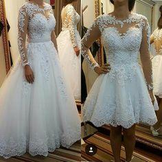 vestido de noiva, 2 em 1.