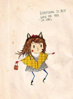 Incredibly silly but cute illustration by Matt Saunders. Verdad.
