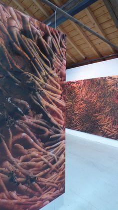 2016 - François Nugues - Exposition - Exhibition view - art center - La Lune en Parachute - France - Oil painting - Penture - Art
