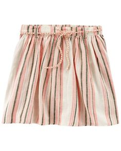 Toddler Girl Striped Linen Skort from Carters.com. Shop clothing  amp   accessories from 2cb15b2d6