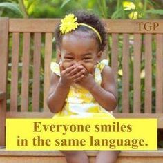 Everyone smiles in the same language #makestheworldgoaround