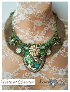 natural shell statement necklace elvish neck piece by RebelSoulEK