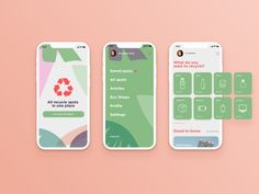 Recycle spots searching app designed by Galina. Connect with them on Dribbble; App Ui Design, Mobile App Design, Interface Design, Branding Design, Recycle Mobile, App Design Inspiration, Interactive Design, Best Apps, Recycling