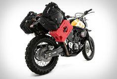 A Ellaspede cria motos customizadas, vestuário e acessórios na Austrália, em West End, Brisbane. Sua mais recente criação é esta que está pronta para a aventura, a Yamaha Xt660, uma junção do que pode ser usado diariamente na cidade co