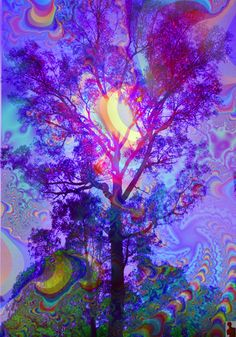 Trippy Psychedelic Art | art trippy tree rainbow psychedelic