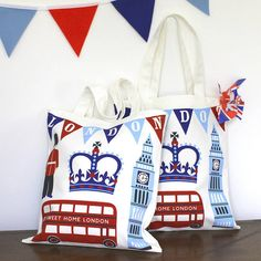 Awesome London tote bags