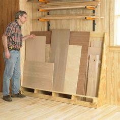 Sheet-goods storage