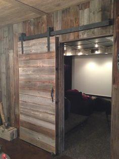 Sliding Barn Doors Inside House - For more Interior Barn Door treatments see InteriorBarnDoors.org