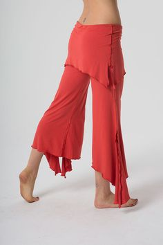 Yoga capri with built in skirt; the best yoga pants. Shop flowy dance pants and fairy clothes on The OM Collection. Wide Leg Yoga Pants, Yoga Capris, Dance Outfits, Cool Outfits, Fashion Outfits, Yoga Fashion, Fairy Clothes, Fantasy Clothes, Dance Pants
