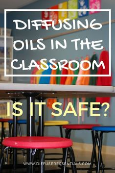 Every year I see people asking if it is okay that their kid's teacher is diffusing in the classroom. Find out why they should not. #diffuser #essentialoil #safety #kids