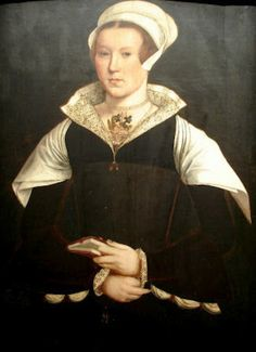 Probably Jane Carlisle, Lady Dacre by ?  Lady Carlisle's collar dates this into the 1550s. The collar appears to be decorated with blackwork. She appears to be wearing two necklaces with a pendant suspended from the higher pendant.