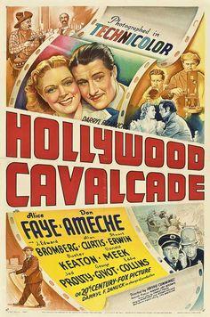 Hollywood Cavalcade. Alice Faye, Don Ameche, Buster Keaton, Al Jolson. 1939