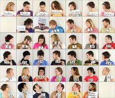 human calendar. Fun idea for the classroom.