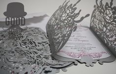 Another gorgeously intricate laser cut wedding invitations that have left our studios