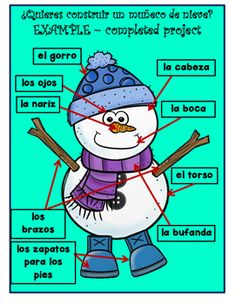 Do you want to build a snowman? This snowman set contains the parts to create and label a snowman in Spanish. I also added one cut and paste snowman label activity sheet and 3 color by number sheets. They matched this theme so beautifully, I couldn't resist. My students LOVE the color by number sheets. I put them on the back of other pages for early finishers, and use them for party days. See the full preview. ♥  #docentes #maestras