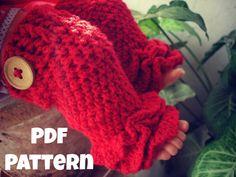 INSTANT DOWNLOAD PDF Crochet legwarmer pattern, Ruffles leg warmer pattern, newborn to 2 years, Pattern No. 23 via Etsy