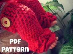 INSTANT DOWNLOAD PDF Crochet legwarmer pattern, Ruffles leg warmer pattern, newborn to 2 years, Pattern No. 23 via Etsy