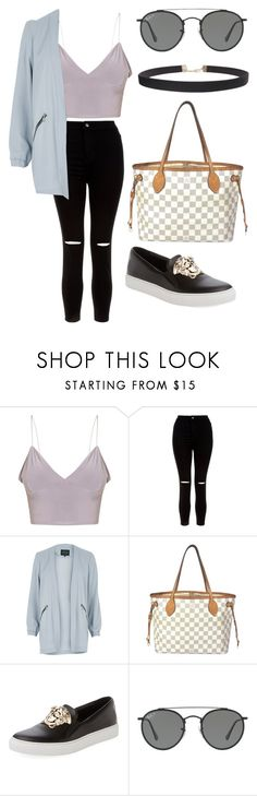 """LA girl"" by fashionblogger2122 on Polyvore featuring New Look, River Island, Louis Vuitton, Versace, Ray-Ban and Humble Chic"