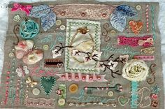 Embroidery Sampler for Virginia by Alisa Noble on Flickr
