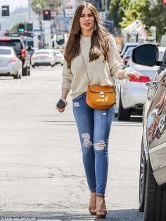 Great gams! On Tuesday, Sofia Vergara showed off her shapely legs in a pair of ultra-slimm...
