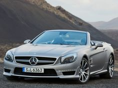 Just two months after the brand new Mercedes-Benz SL-class roadster made its debut at the 2012 Detroit Motor Show, AMG showcased the go fast variant of the SL, Mercedes Benz Coupe, Mercedes Wheels, New Mercedes, Convertible, Ferrari, Porsche, Rims For Sale, Vw Eos, Daimler Ag
