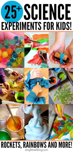 Science Experiments for Kids - what a great list of activities for Summer!