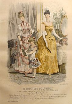1885 Moniteur de la Mode, Parisian Ladies Fashion