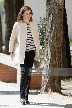 Queen Letizia of Spain attends the announcement of the winner of the 'Foundation Princess Girona Award 2016' at Gipsy Secretariat Foundation of Madrid on April 26, 2016 in Madrid, Spain.  (Photo by Juan Naharro Gimenez/Getty Images)